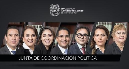 Reconfiguran Junta de Coordinación Política en el congreso local