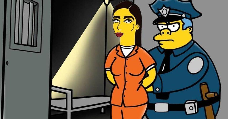 Emma Coronel llega a los Simpson y es encarcelada en Springfield