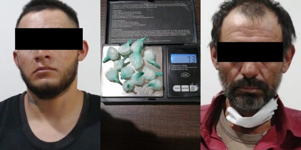 Detienen a dos sujetos en plena compra-venta de drogas en San Pancho