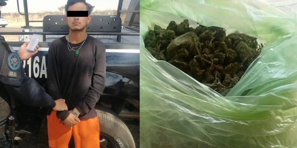 """Capturan a """"El Juanga"""" con medio kilo de marihuana en Cañada Honda"""