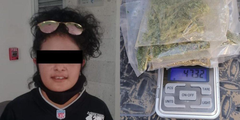 """Cae """"La Yuri""""  presuntamente se dedica al venta de droga en Asientos"""