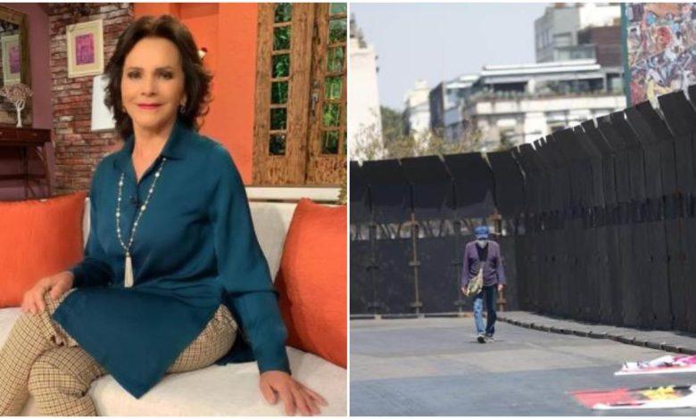 Pati Chapoy critica las vallas alrededor de Palacio Nacional