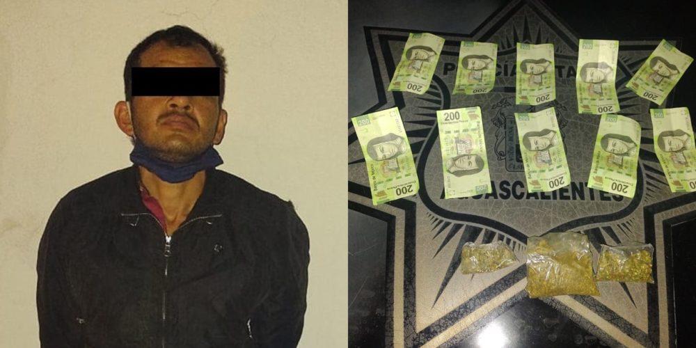 Detienen a Paoli José con envoltorios de marihuana y billetes falsos