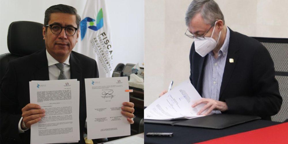 UAA y FGE firman convenio de colaboración