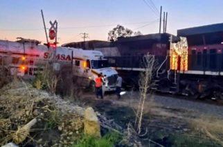 ¡Se los llevó el tren! Aguascalientes reporta incremento del 100% en arrollamiento de unidades por el ferrocarril