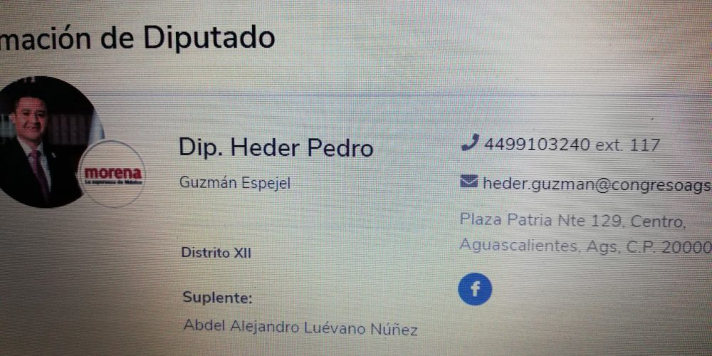 Suplente de diputado de Morena… Afiliado al PAN en Aguascalientes