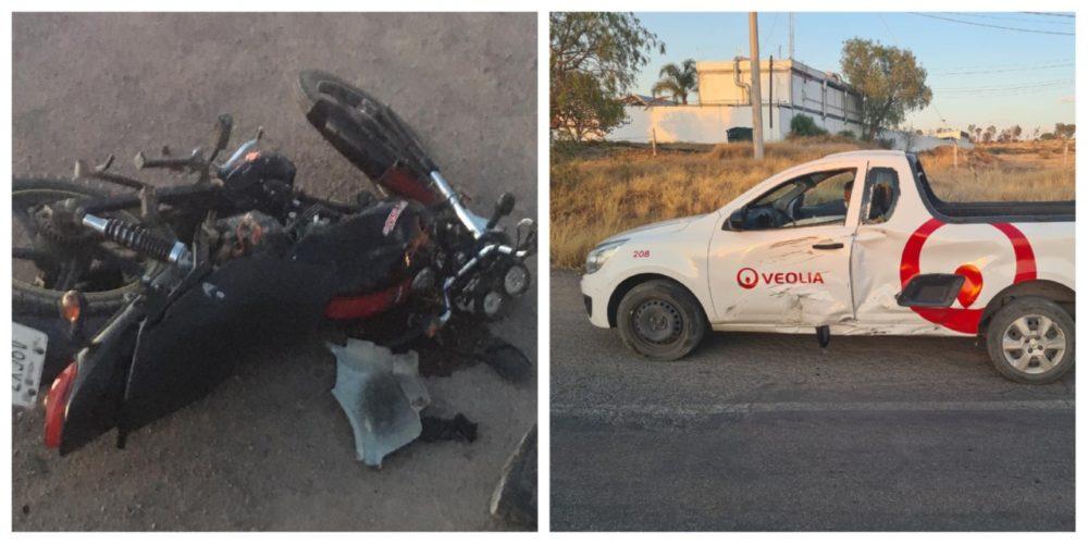 Responde Veolia sobre choque entre una de sus unidades y un motociclista