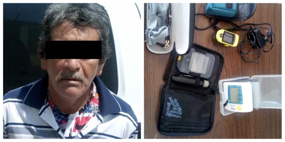 Se descuidó una anciana y Mario la robó en Rincón de Romos