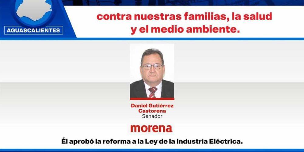 Empresarios exhiben a Senador de Morena de Aguascalientes por votar Reforma Eléctrica