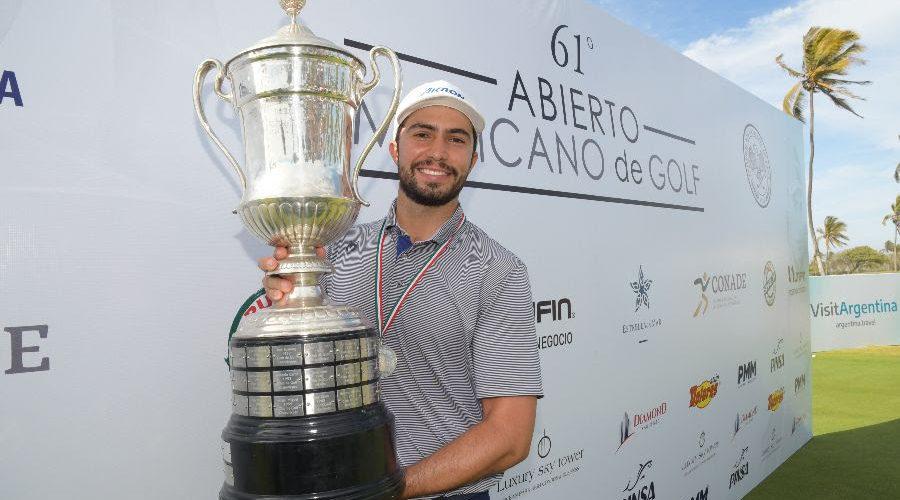 Álvaro Ortiz se corona campeón del 61º Abierto Mexicano de Golf