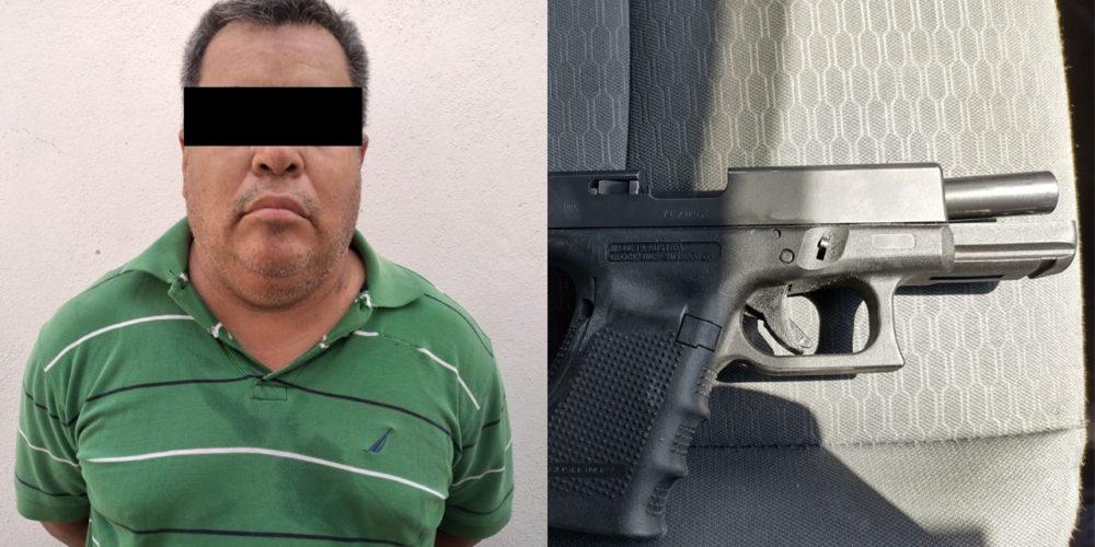 Atrapan a Pepe con tremendo pistolón en San Pancho