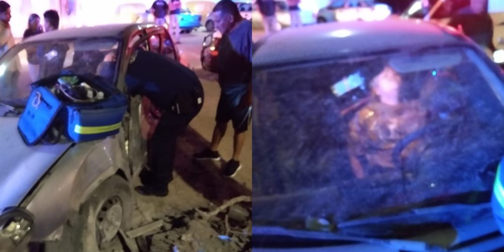 Trailero se dio a la fuga tras chocar contra vehículo en Lomas de la Asunción