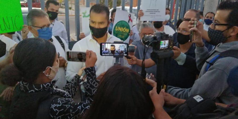 Hasta manifestación de brazos caídos si no se entrega bono en Hospital Hidalgo: Araiza