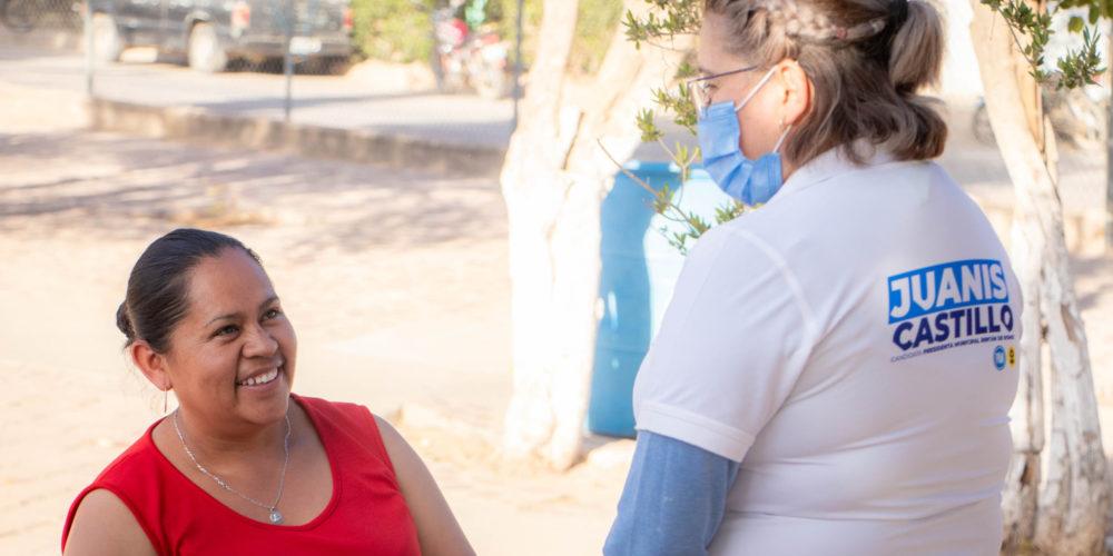 Juanis Castillo suma voluntades en comunidades de Rincón de Romos