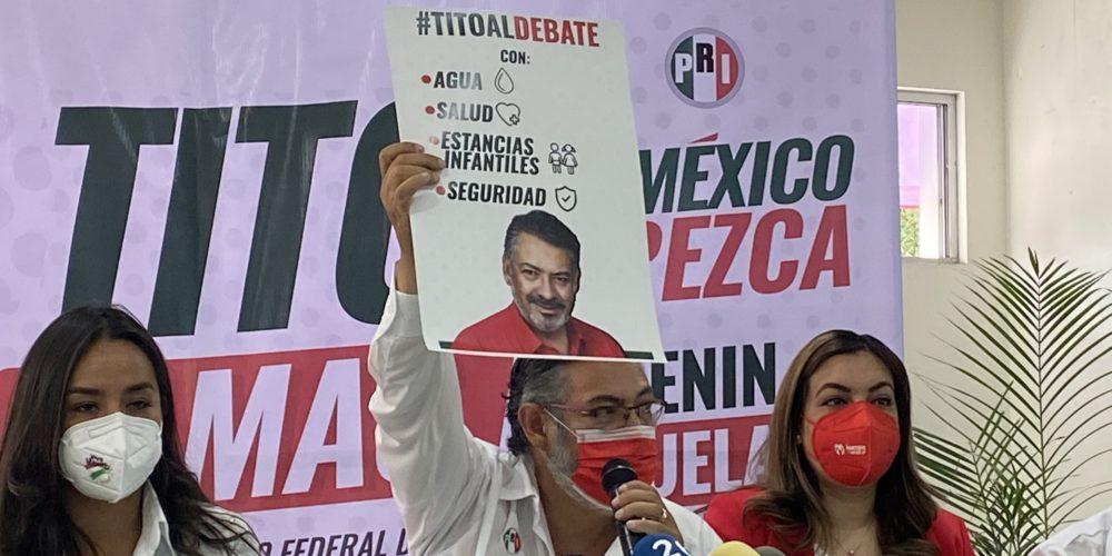Reta Tito Lamas a debate a Mónica Becerra y a Elba Torres sobre agua, salud y seguridad