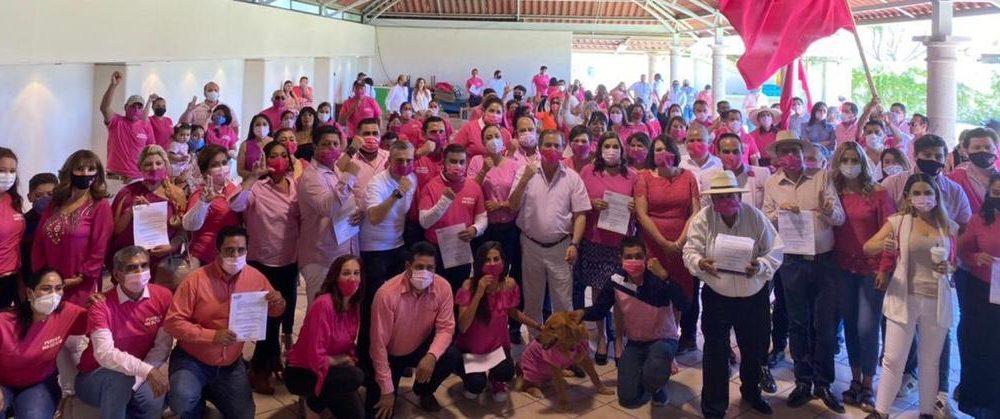 Olvidan la sana distancia dentro de Fuerza x México en Aguascalientes