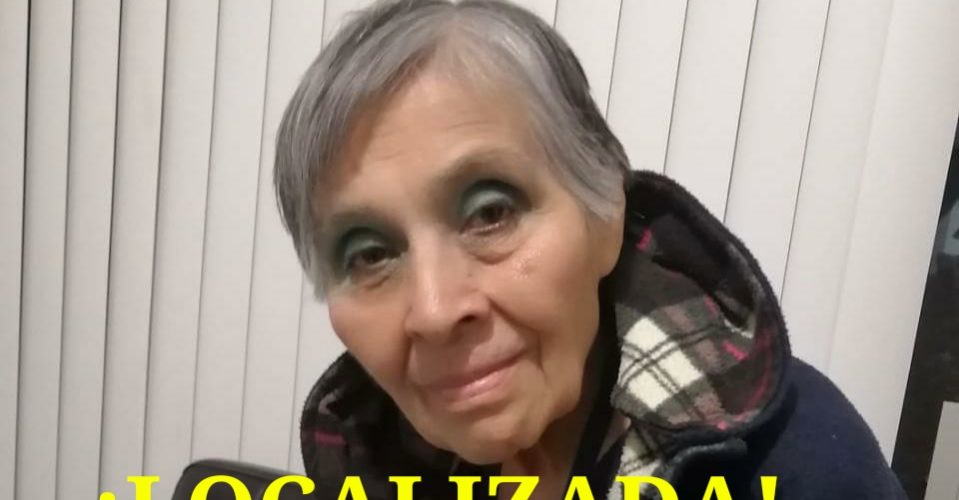 Localizan a anciana reportada como extraviada con Alzheimer en Aguascalientes