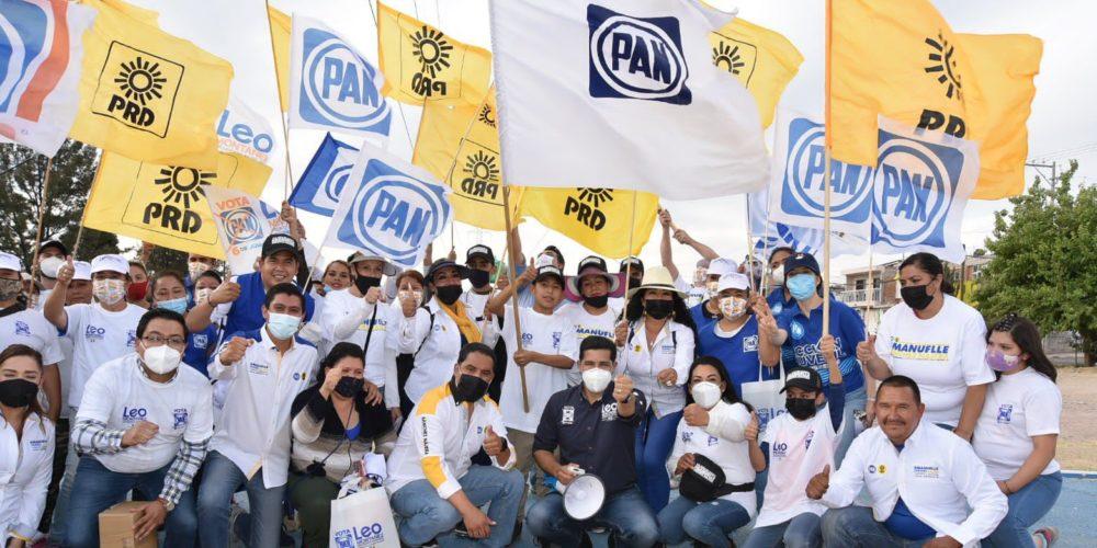 Coalición PAN-PRD recibe apoyo de vecinos del oriente de la ciudad