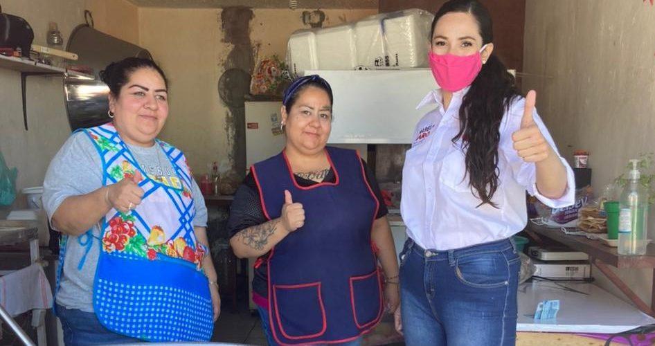 Mabel Haro propone destinar recursos para apoyar a micro negocios