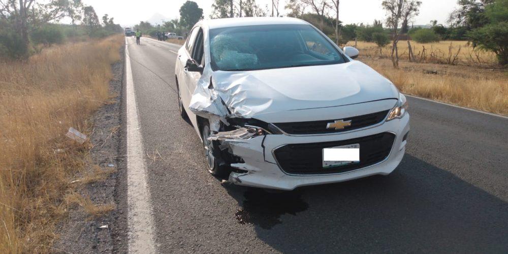 Muere motociclista tras ser impactado por un vehículo en Tepezalá