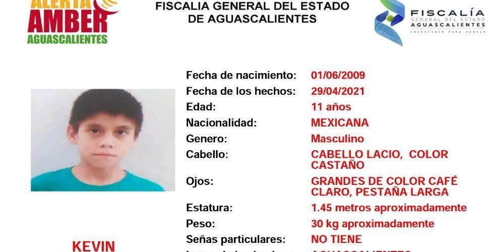 Buscan a menor de 11 años extraviado en Aguascalientes