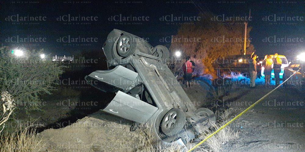 Inexperta conductora volcó en el Puertecito de la Virgen: Hay 1 muerto