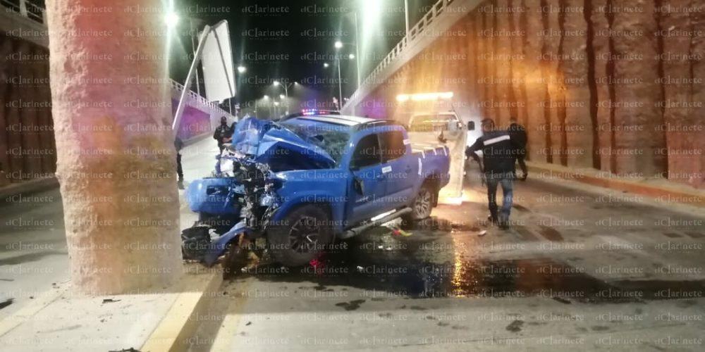 Murió uno de los participantes en el choque del puente de Quezada Limón