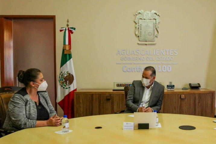 Alcaldesa de Aguascalientes se reúne con el Gobernador del Estado