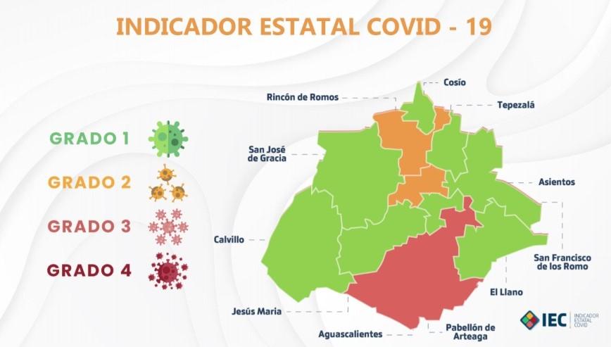 Ya son 8 municipios en color verde dentro del Indicador Estatal Covid-19