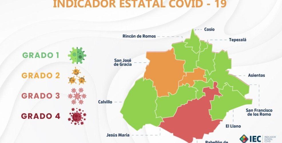 Colocan a 8 ayuntamientos en color verde; San José de Gracia retrocede