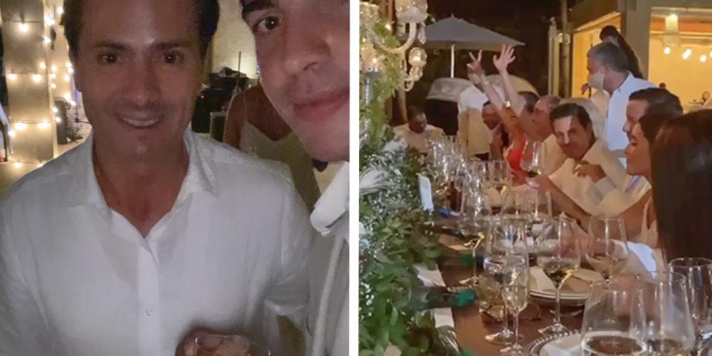 Reaparece EPN en una boda en República Dominicana