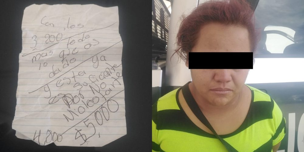 Capturan a mujer que extorsionó a un comerciante en San Francisco de los Romo