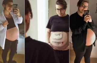 Hombre embarazado está a punto de dar a luz y podrá amamantar a su bebé
