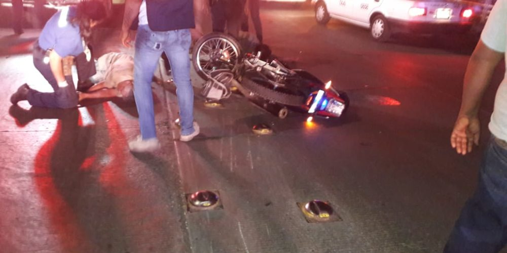 Grave motociclista que impactó a peatón al oriente de la ciudad