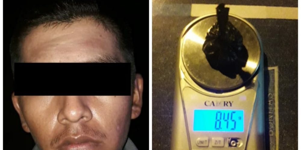 Capturan a Misael con droga en Rincón de Romos