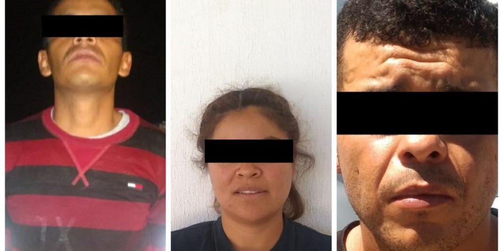 Juan Pablo, Alberto y Juana, fueron detenidos al contar con orden de reaprehensión