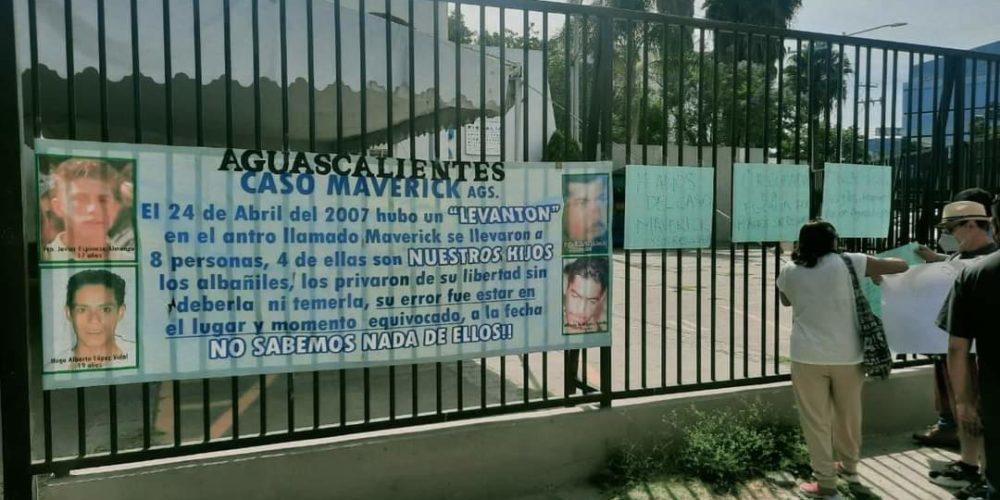 Familiares de desaparecidos del 'Maverick' exigen justicia en Aguascalientes