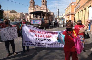Anuncian jubilados de Aguascalientes nuevas movilizaciones contra UMA