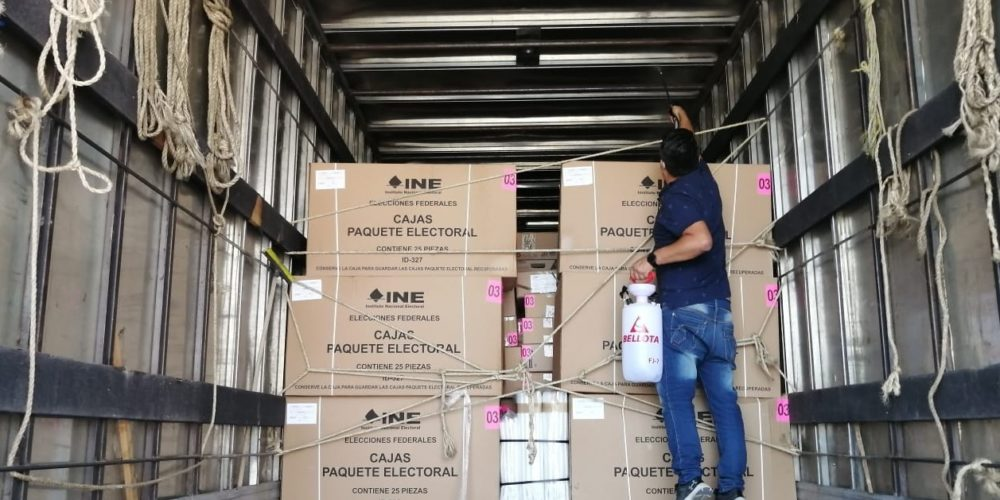 INE Aguascalientes recibe material electoral para Elecciones 2021