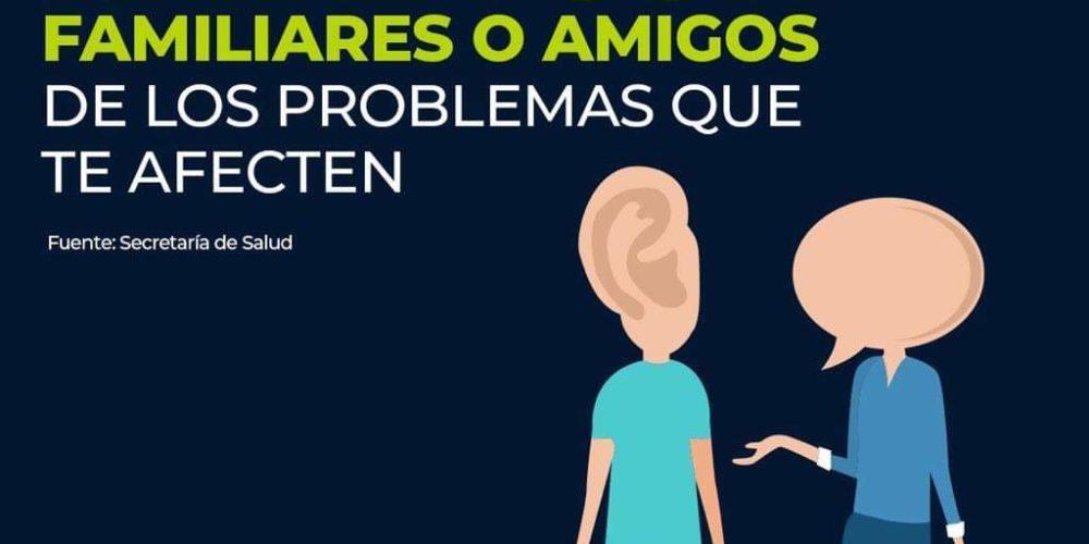 Habla con tus familiares o amigos de los problemas que te afecten