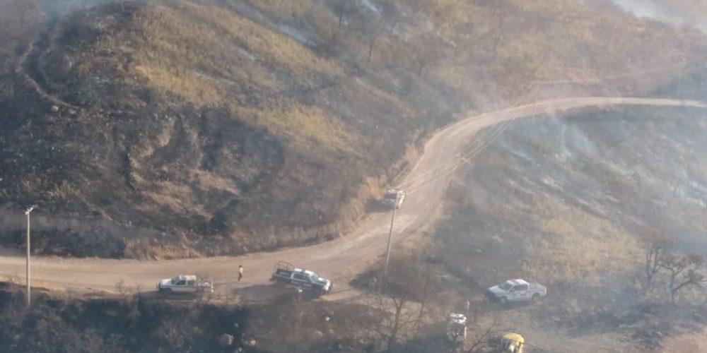 Se registra incendio forestal en la Sierra Fría en Calvillo