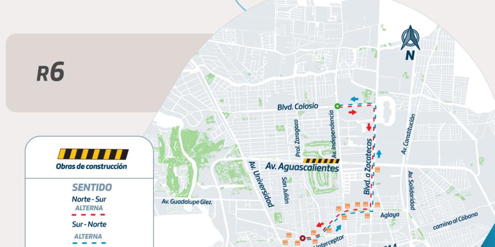 Modificarán rutas de urbanos por obras de paso a desnivel al norte de la ciudad