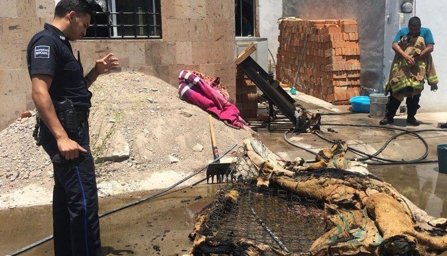 Incendio a casa-habitación deja daños materiales en Pabellón de Arteaga