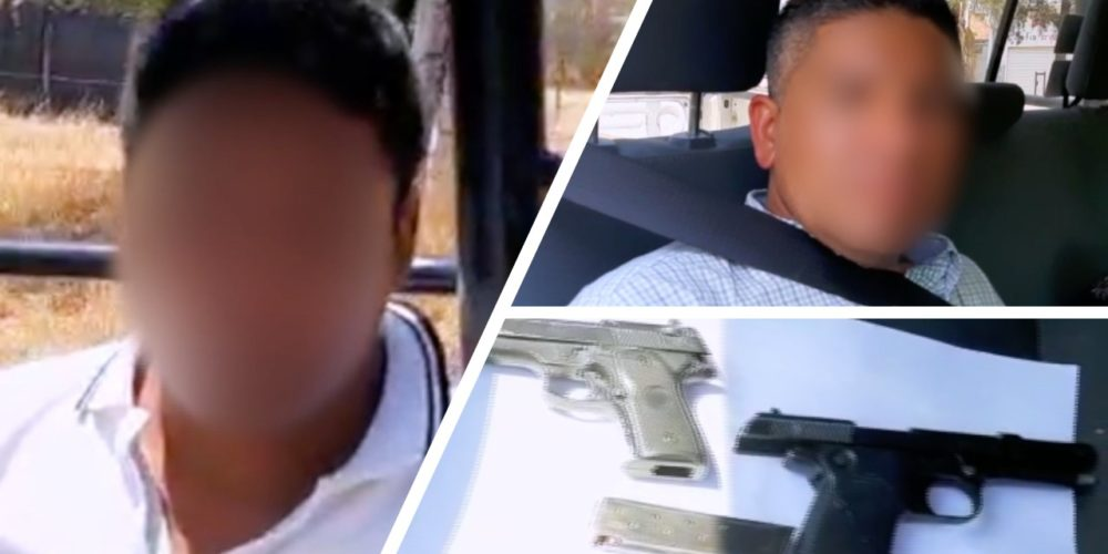Capturan a dos sujetos que robaron una vinatería a punta de pistola en Calvillo