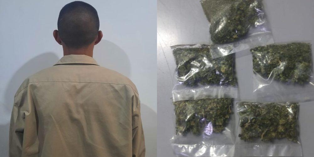 Cae presunto distribuidor de marihuana en Balcones de Oriente