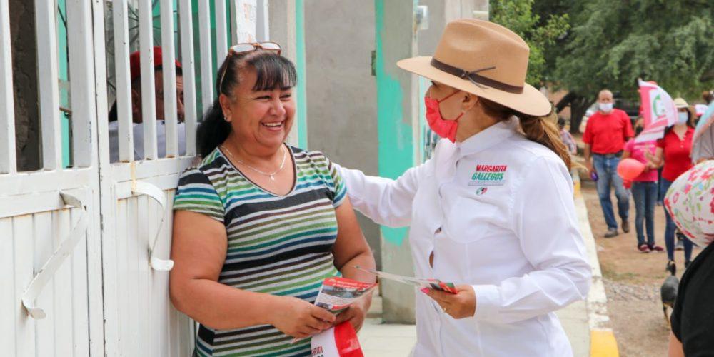 No traemos promesas, sino resultados: Margarita Gallegos