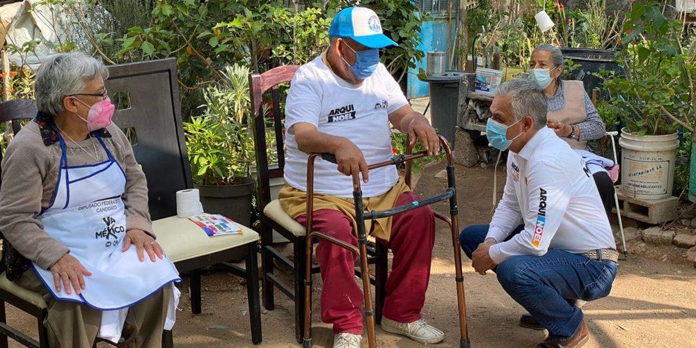 Noel Mata legislará a favor de los adultos mayores de Aguascalientes