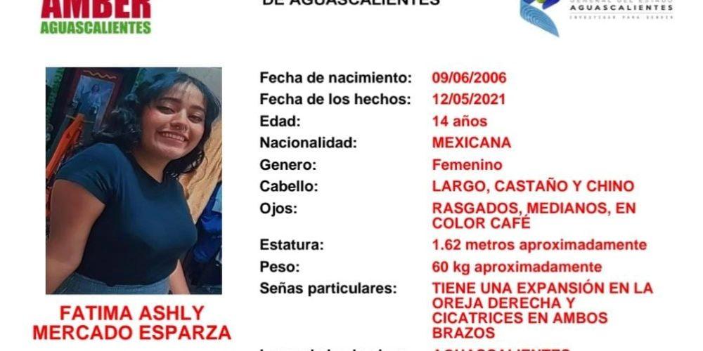 Buscan a  adolescente de 14 años que desapareció en Aguascalientes