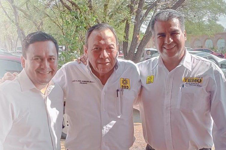 Temo Escobedo recibe apoyo de la dirigencia nacional del PRD