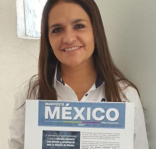 Alma Hilda Medina se adhiere al Manifiesto México